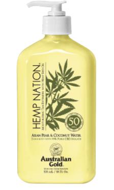 Hemp Nation® Asian Pear & Coconut Water Moisturizing Tan Extender with Hemp Seed Oil