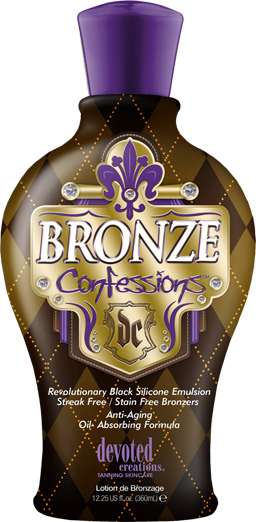 Bronze Confessions™ Black Silicone Emulsion Streak free/Stain free Bronzers  Anti-Aging  Oil- Absorbing Formula