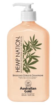 Hemp Nation® Moisturizing Hemp Tan Extender Sparkling Citrus & Champagne