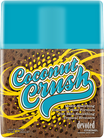 Coconut Crush™Quick Absorbing Coconut Crème Formula With Skin Smoothing Tropical Bronzers