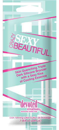 Crazy Sexy Beautiful™ Triple Dark Silicone Bronzer with Cooling Essence Pkt