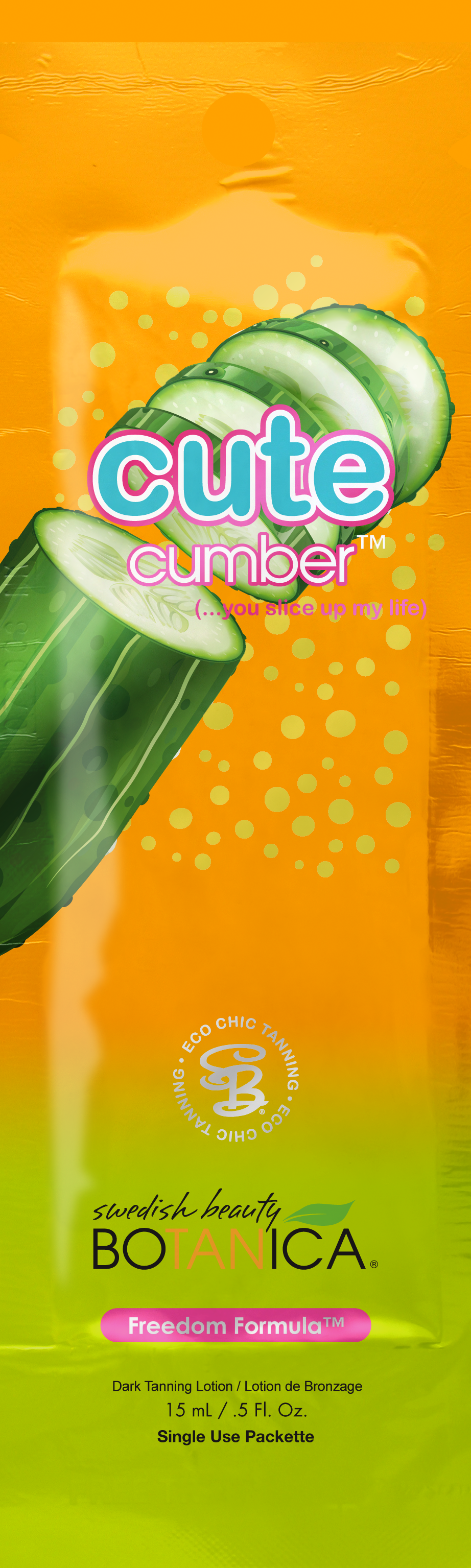 Cutecumber™ Non-Comedogenic DHA Bronzer with Boosted BioBronze™ Blend Pkt