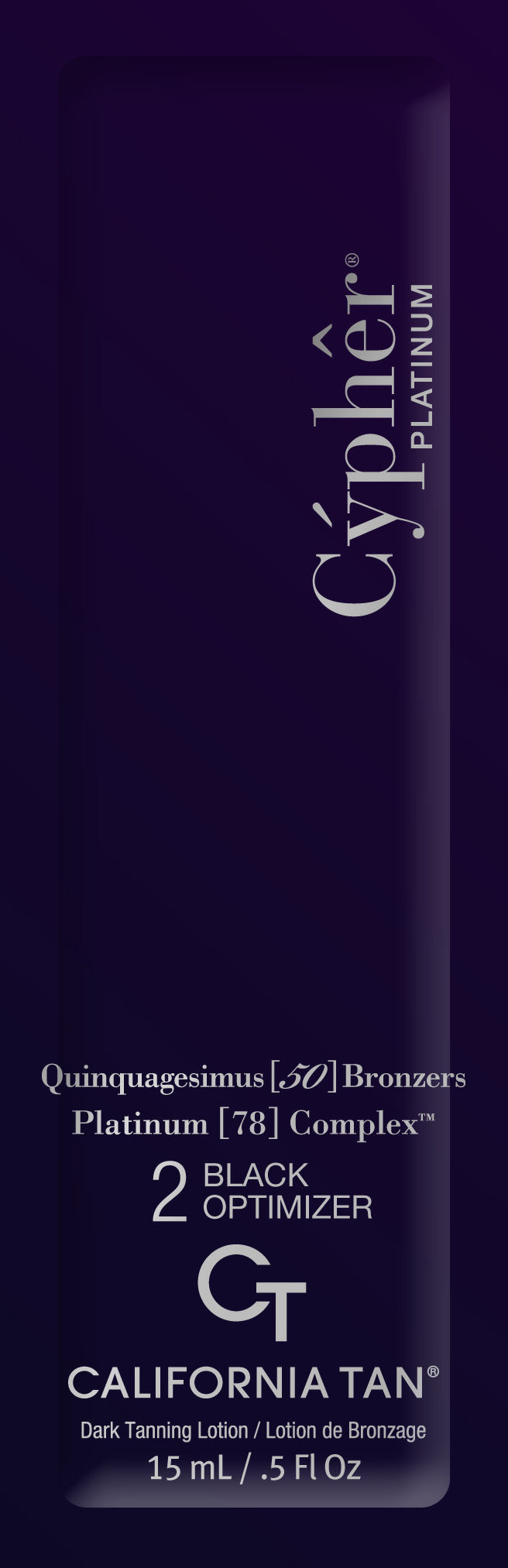 Cypher Platinum® Black Optimizer Step 2 Quinquagesimus 50 Bronzer Pkt