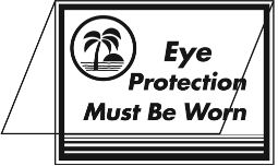 Eye Protection Must Be Worn Tent