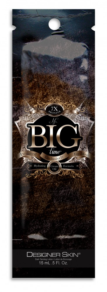 Mr. Big Time™ 7X Bronzer Cream Oil Formula with Tattoo Protection Pkt