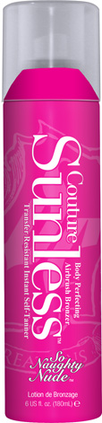 So Naughty Nude Sunless Couture™ Body Perfecting Airbrush Bronzer Transfer Resistant Instant Self-Tanner