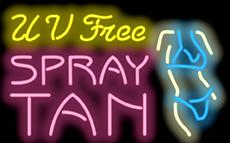UV Free Spray Tanning Neon