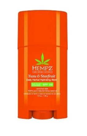 Hempz Yuzu & Starfruit Daily Herbal Hydrating Stick with SPF 30