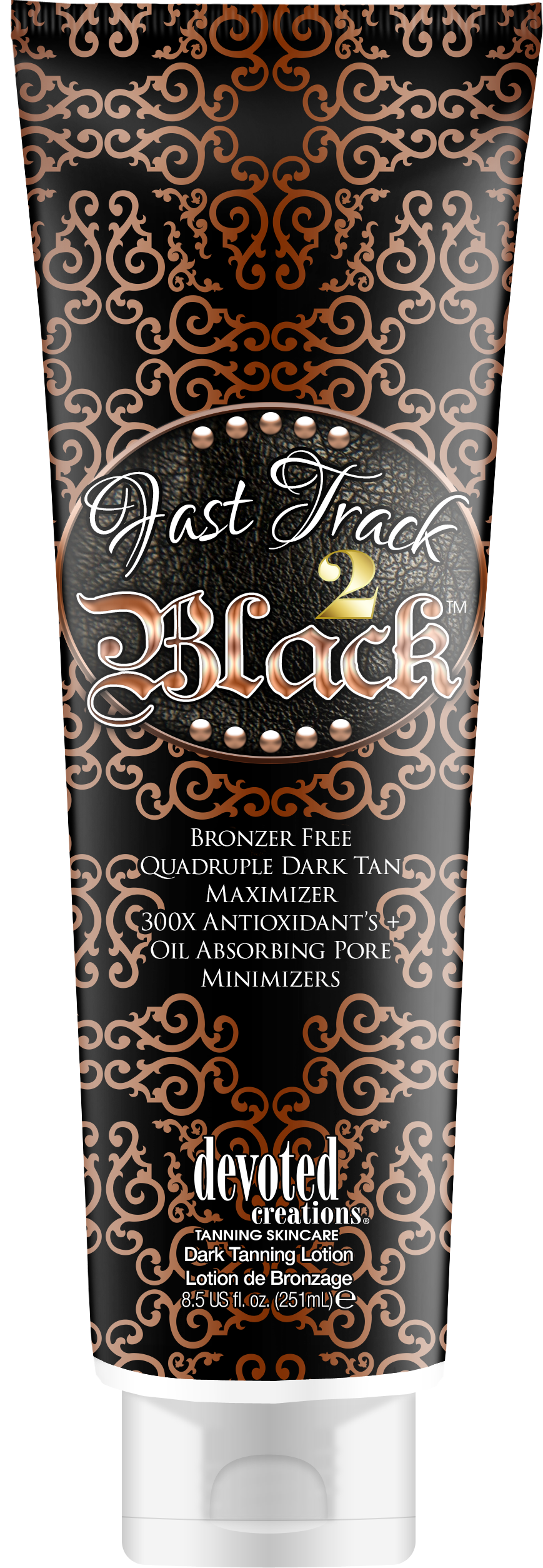 Fast Track 2 Black Bronzer Free Quadruple Dark Tan Maximizer