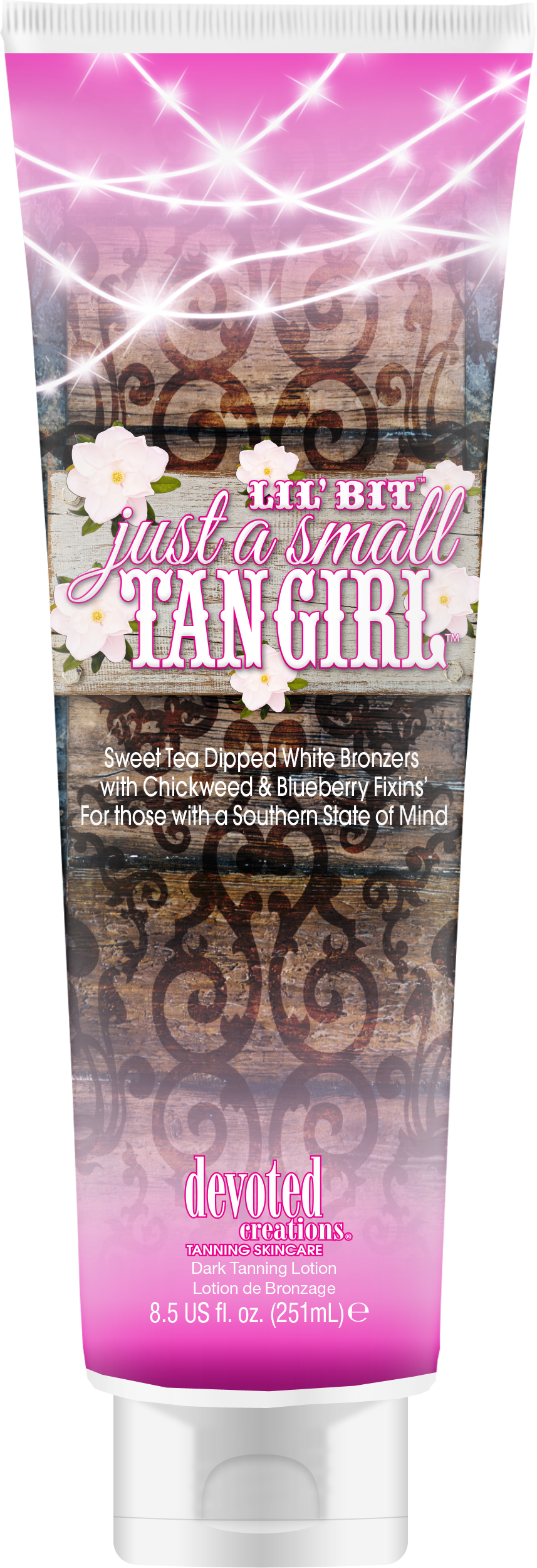 Lil Bit Just a Small Tan Girl Sweet Tea Dipped White Bronzers
