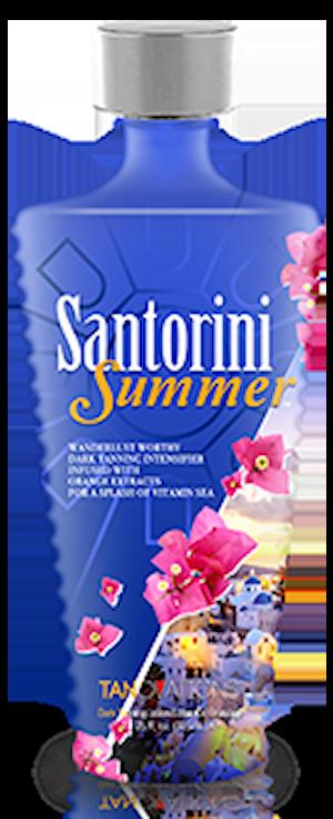 Santorini Summer Wanderlust Worthy Dark Tanning Intensifier Infused with Orange Extracts for a splash of Vitamin Sea