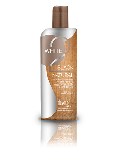 White 2 Black: Natural Bronzer™ Streak-Free/ Stain-Free Natural Bronzer Ultra-hydrating Formula